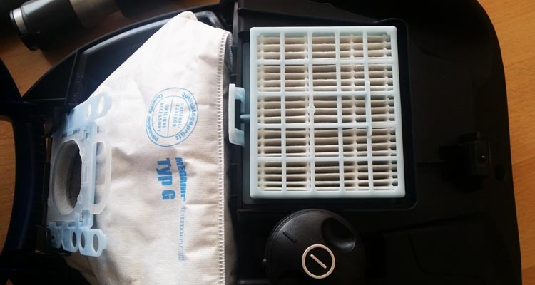 Hepa Filter im Siemens Staubsauger